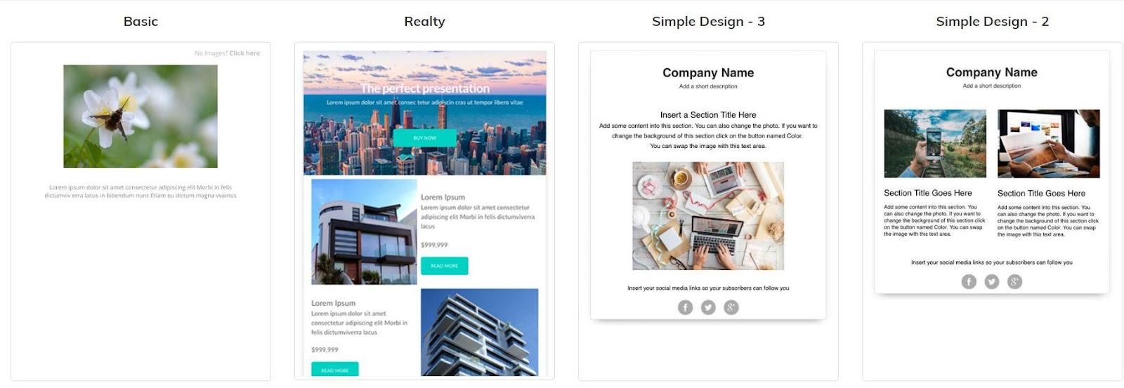 design templates in VerticalResponse