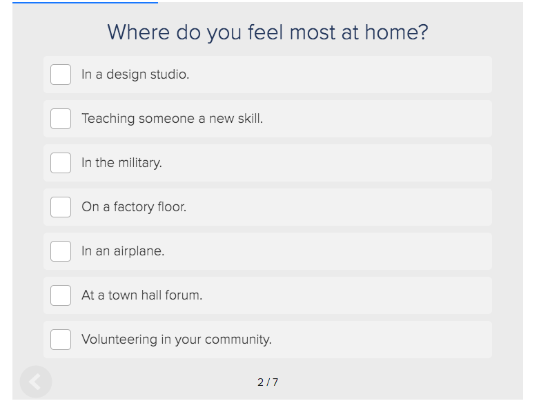 where do you feel most at home quiz question