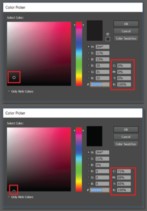 How to Set Up Black and Grey Elements in Your Artwork
