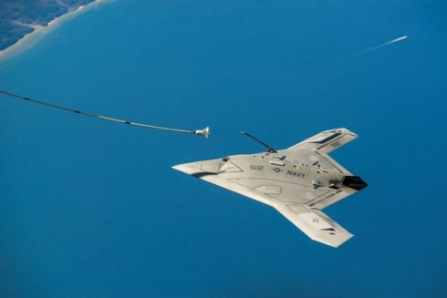 Navy X-47B refuels for the first time. (Navy photo)