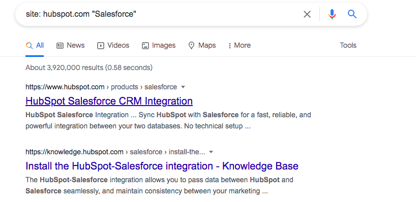 Use Google Search to find brand mentions