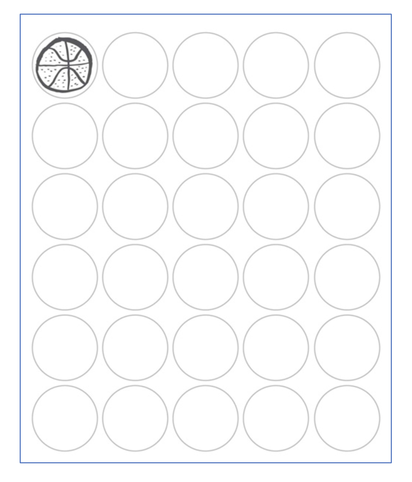 Thirty circles brainstorming activity template