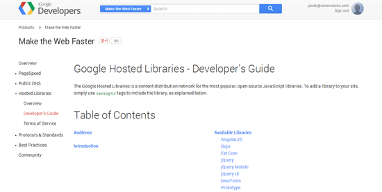 Google Hosted Libraries