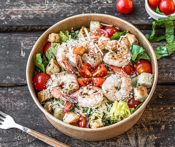 想吃清淡一點,那就來個海鮮溫沙拉吧!