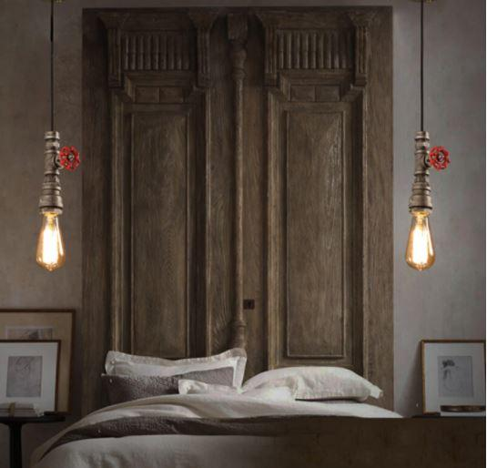 Steampunk Bedside Pendant Light