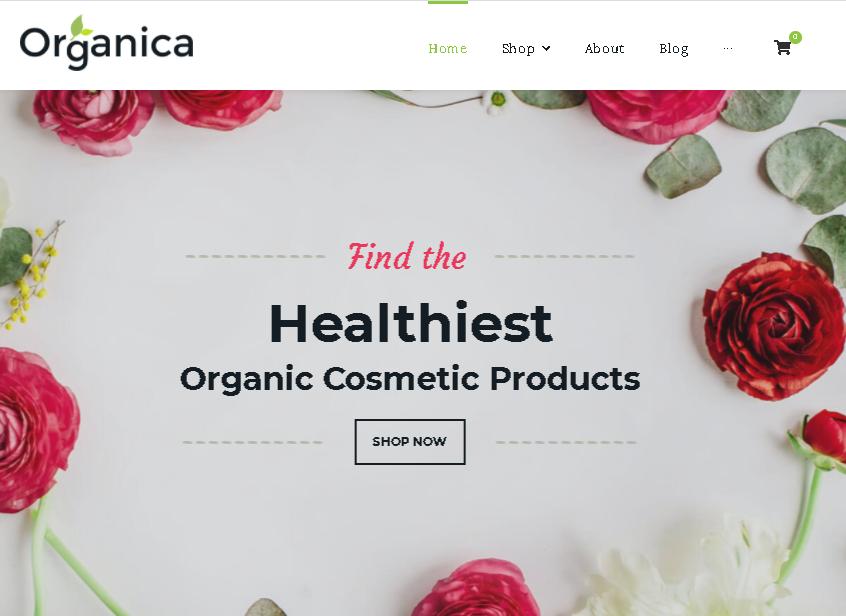 Woocommerce themes Organica