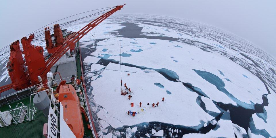 Вид с китайского ледокола Xue