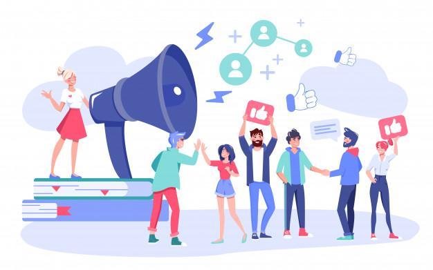 Influencer digital marketing follower attraction Premium Vector