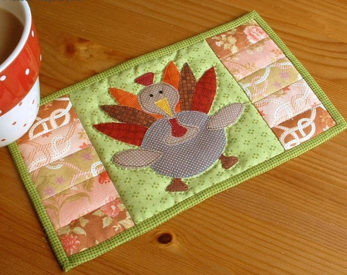 Quilted Turkey Placemat