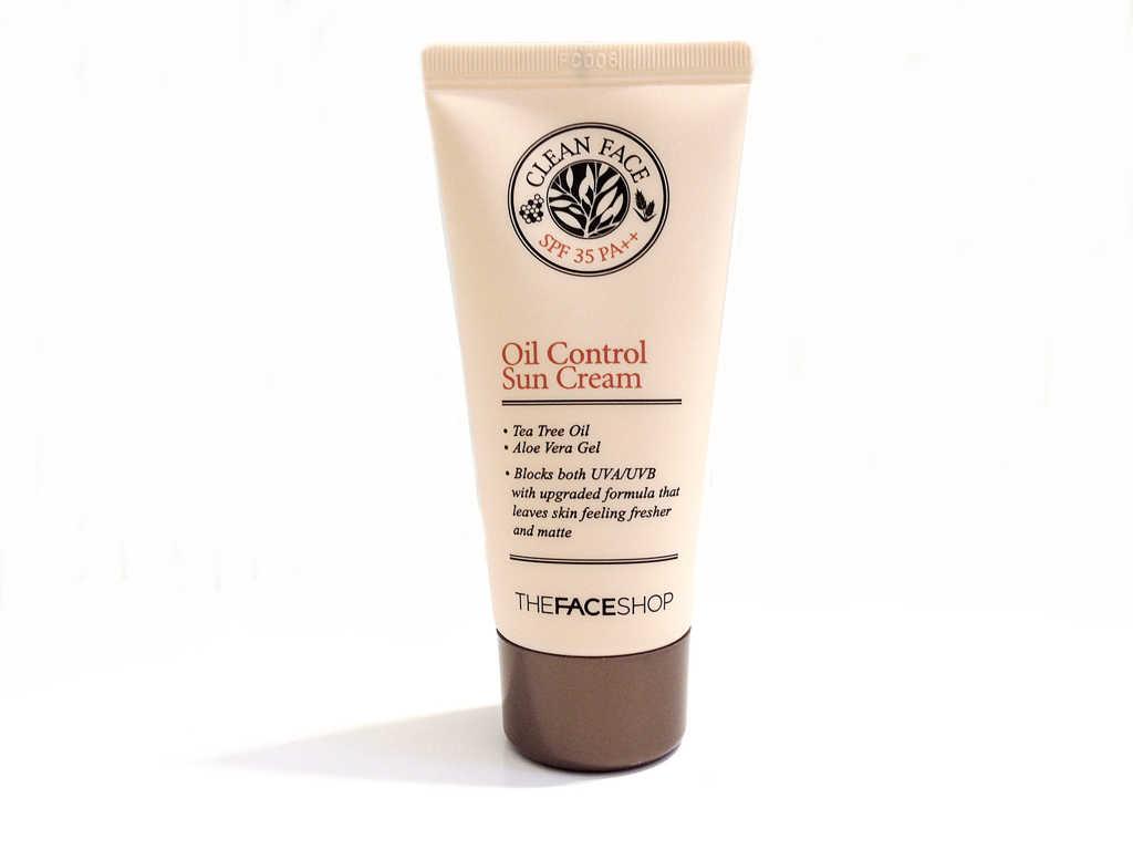 The Face Shop Clean Face Oil Control Sun Cream