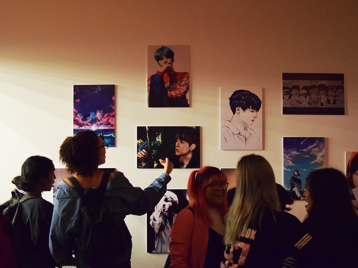 Amino celebrates BTS's new 'Love Yourself' exhibit.