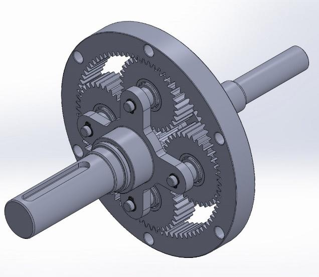 projeção 3D de projeto mecânico