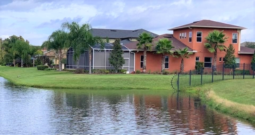 home on the water in Brandon, FL