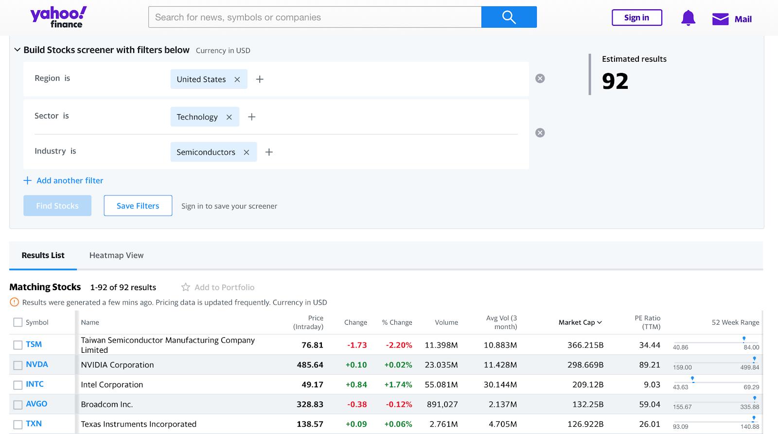 Сравниваем скринеры Тинькофф и Yahoo Finance: какой лучше?