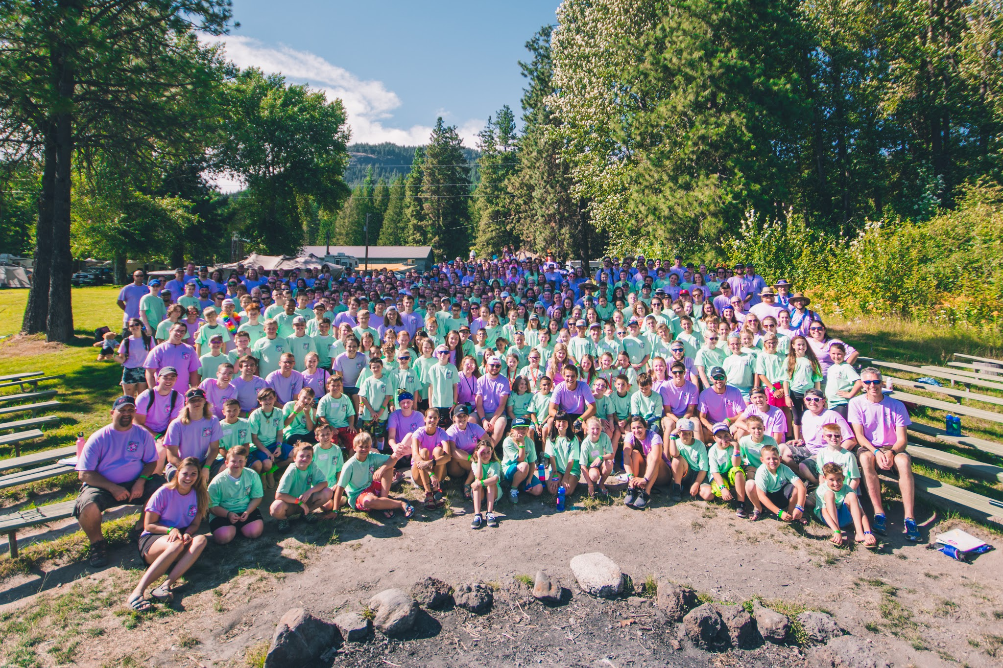 All of our campers and volunteers last year!