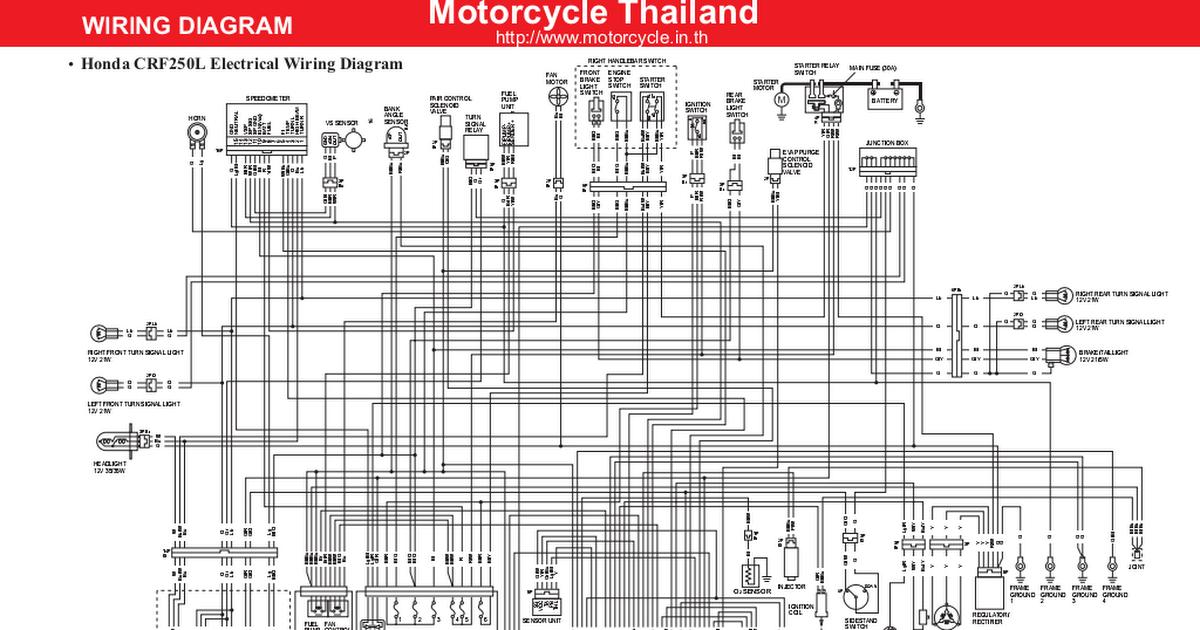 Honda Crf250l Wiring Diagram En Pdf Google Drive