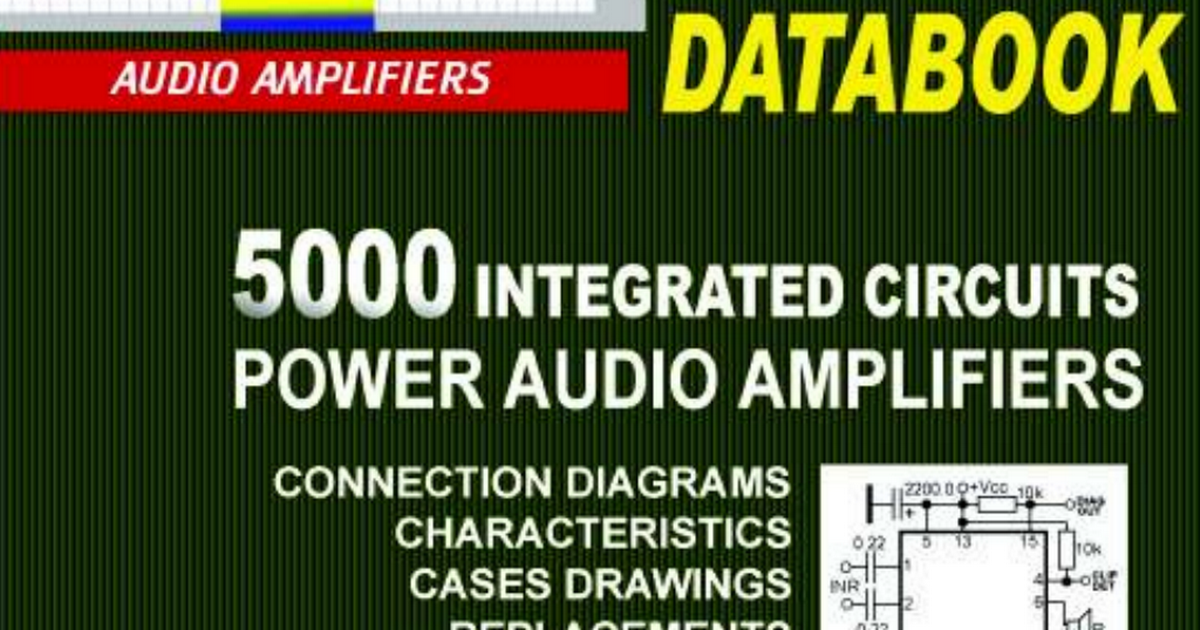 5000 integrated circuits power audio amplifiers data book (1