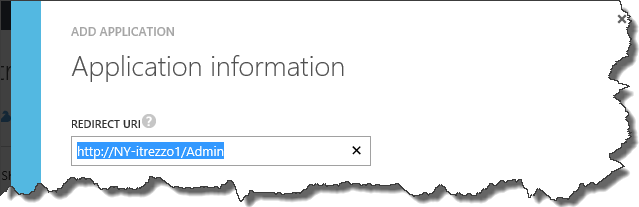Azure AD application redirect URL