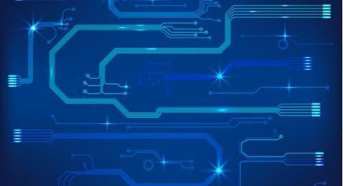 diseño de placa de circuito azul