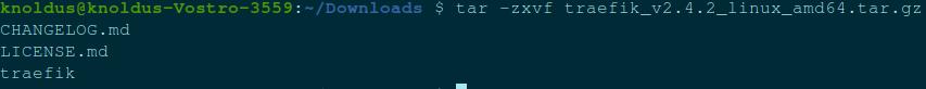 tar -zxvf traefik_v2.4.2_linux_amd64.tar.gz CHANGELOG.md LICENSE.md traefik