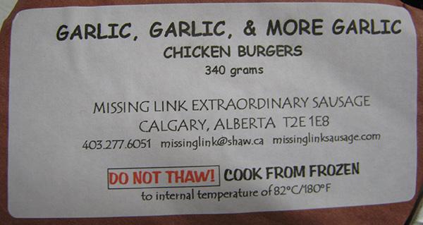 Garlic, Garlic, & More Garlic: Chicken Burgers - 340 grams