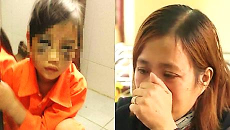 Cô Trà (phải) khóc vì hối hận (ảnh: Cắt từ clip của VTV)