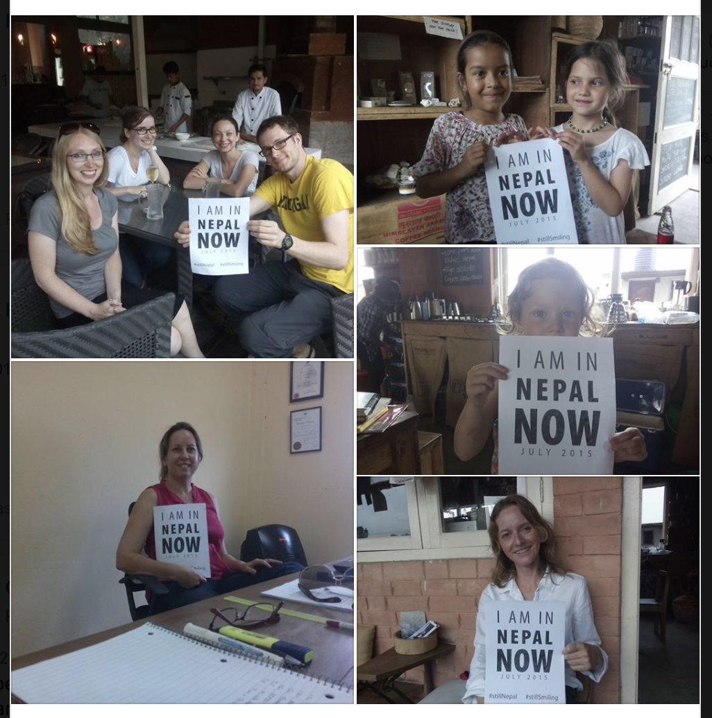destination disaster recovery campaign in Nepal