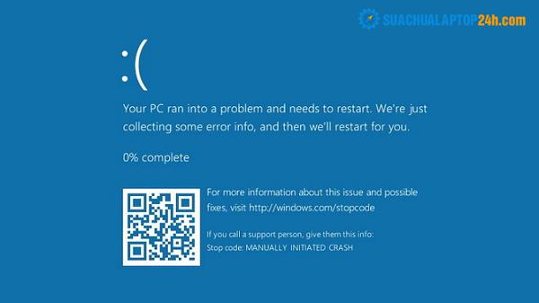 laptop bị màn hình xanh