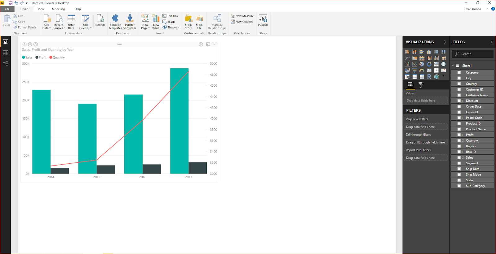 Dual Axis Chart in Microsoft Power BI - Step By Step 40