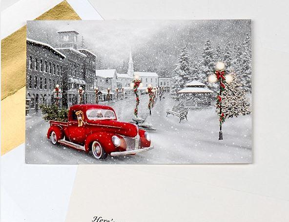 假日駕駛聖誕賀卡