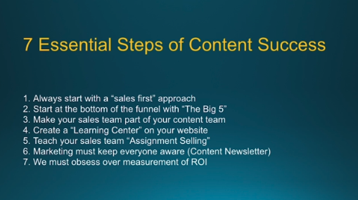 7 Essential Steps of Content Success