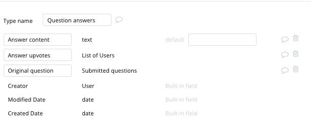 Criar um fórum online Stack Overflow - Tipos de dados e campos