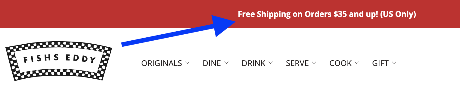Free Shipping Threshold Example