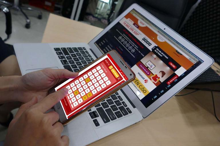Mua xổ số tại ứng dụng trên điện thoại