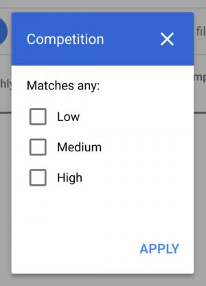 google keyword planner 2020