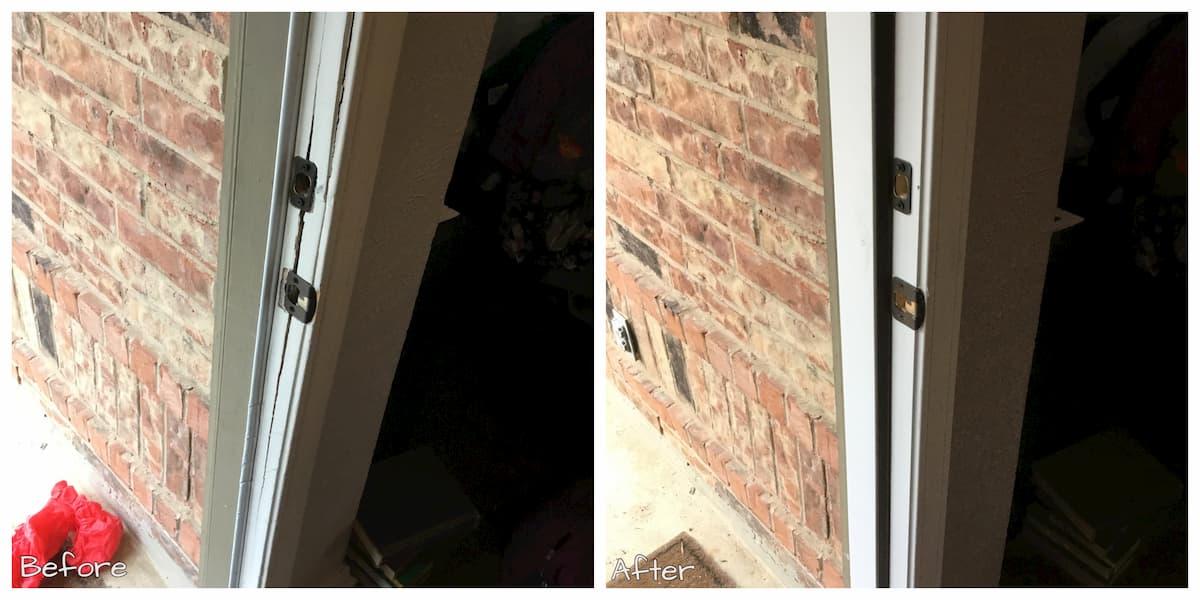 Mr. Handyman Sherman front door repair