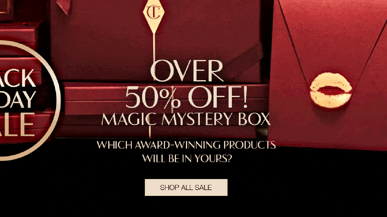 Charlotte Tilbury Black Friday campaign