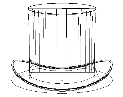 Top Hat Illustration Outline