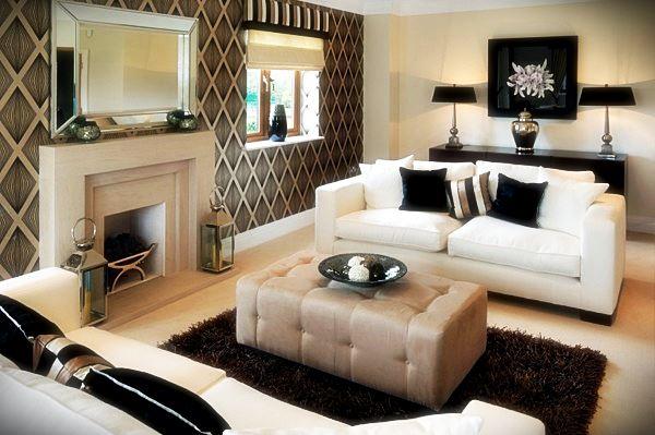 15 thiết kế nội thất phòng khách đen trắng
