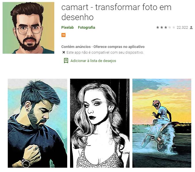 Transformar Foto em Desenho estilo Caricatura