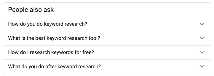 google people also ask questions