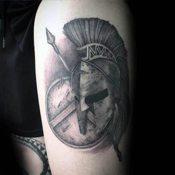 spartan shield tattoo ideas