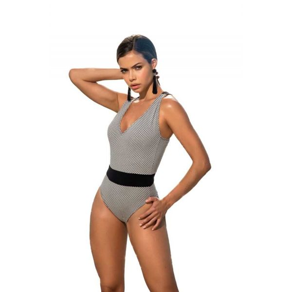 Mapale Black/White One Piece Swimsuit