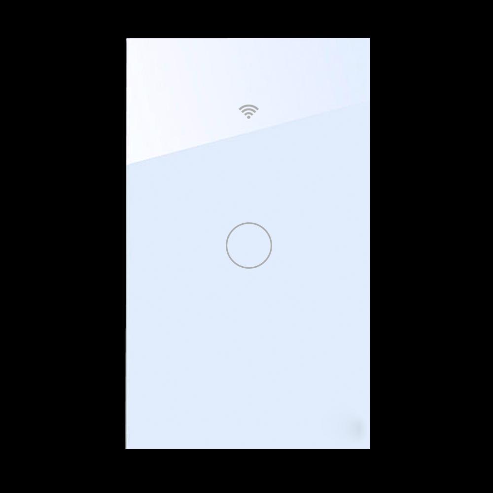 Công tắc Tuya cảm ứng chữ nhật 1 nút Trắng - WIFI + RF 433