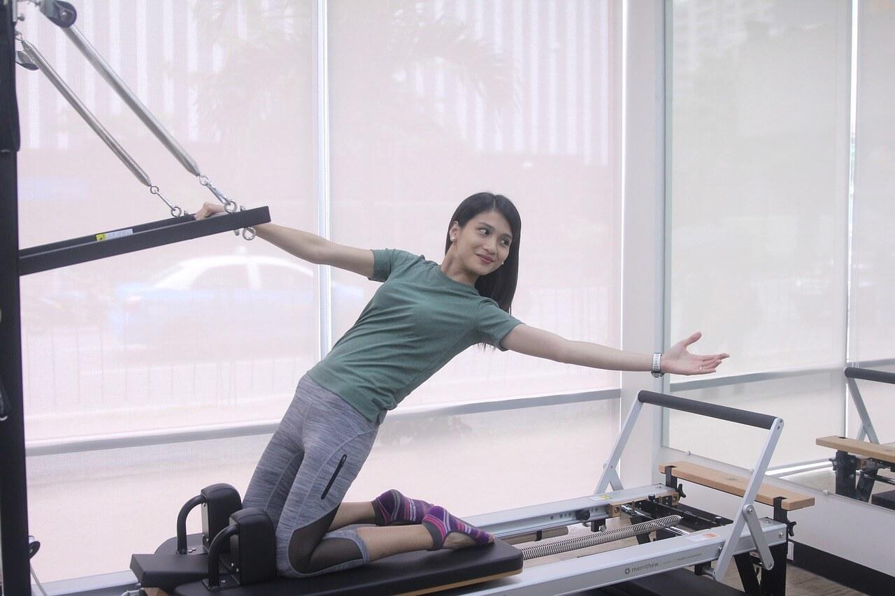 Woman doing pilates