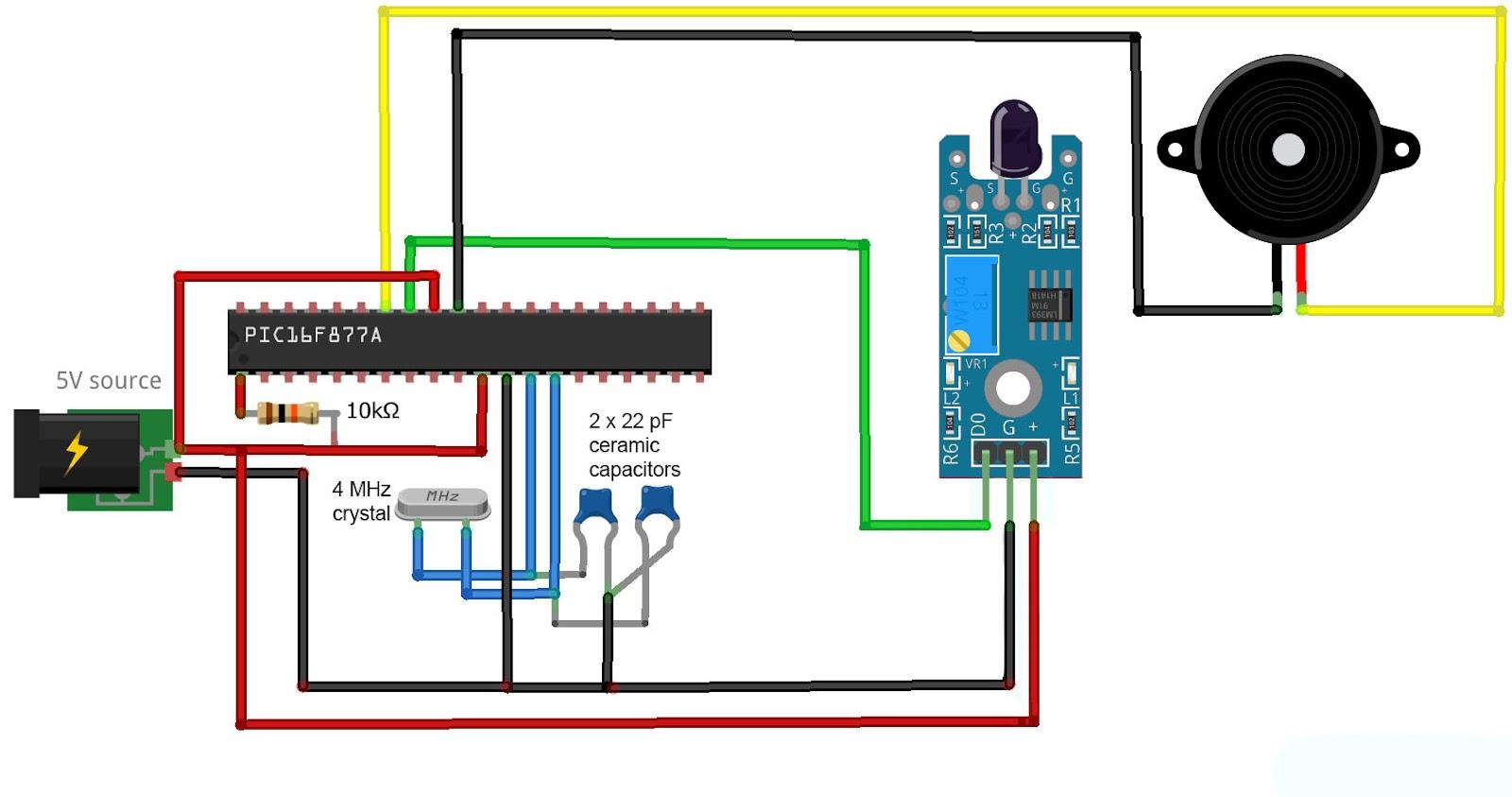 PIC flame sensor