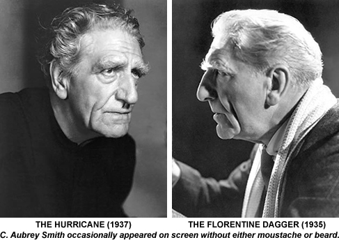 Aubrey Smith in The Hurricane and The Florentine Dagger..