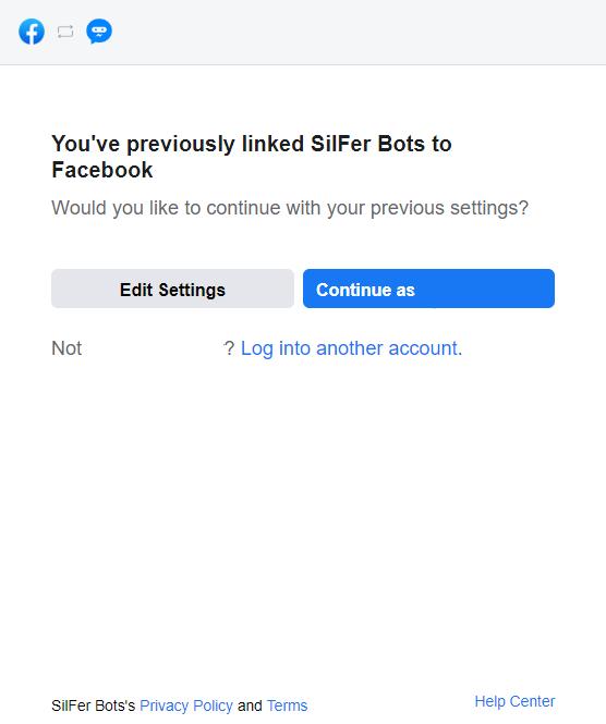 Facebook Account Confirmation