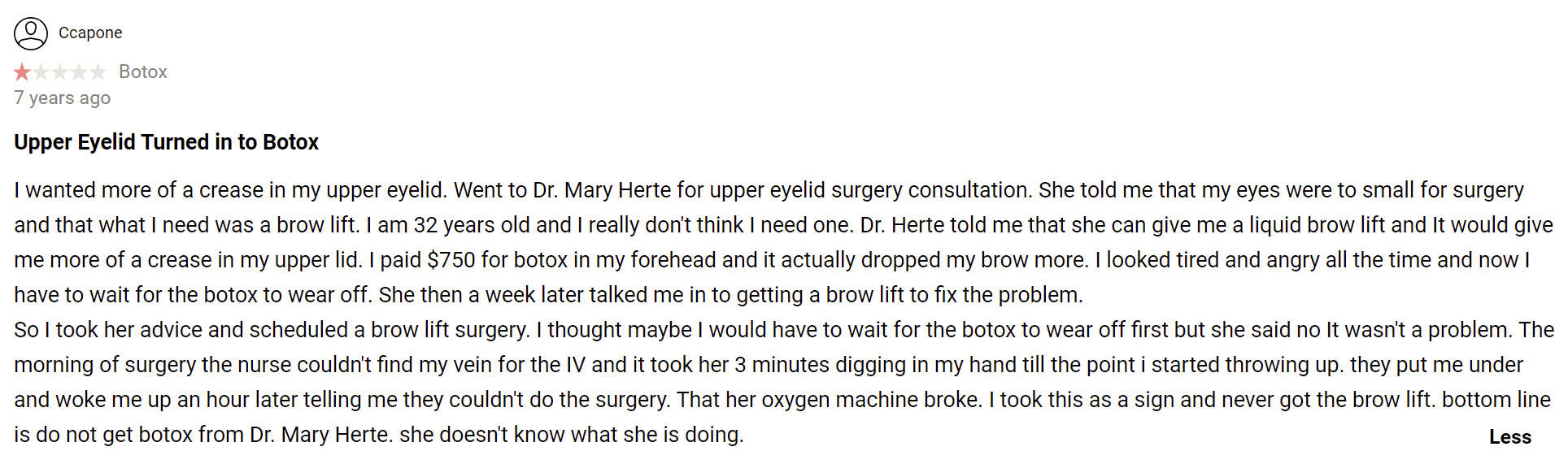 Herte Center For Cosmetic Surgery review