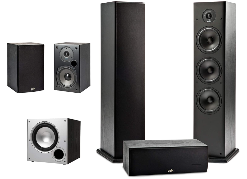 Polk Audio 5.1 Channel Home Theater System with Powered Subwoofer
